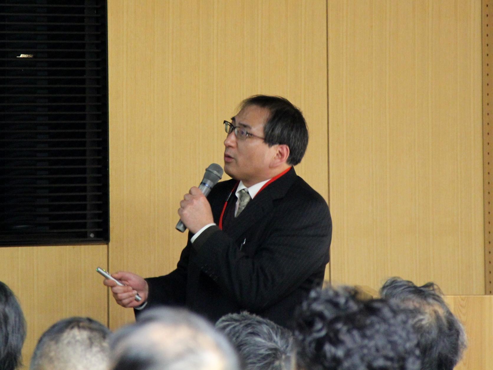 大井准教授の講演風景